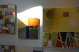 works in studio